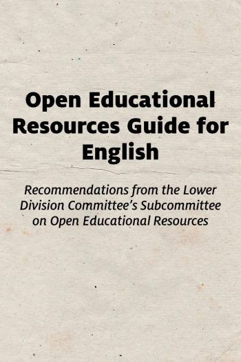 Cover image for Open Educational Resources Guide for English