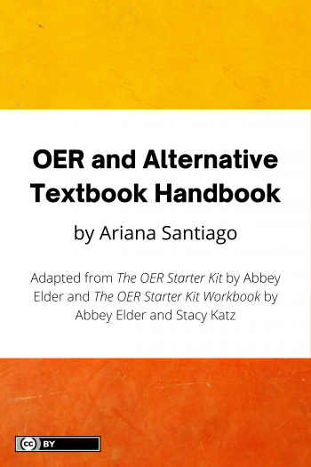 Cover image for OER and Alternative Textbook Handbook