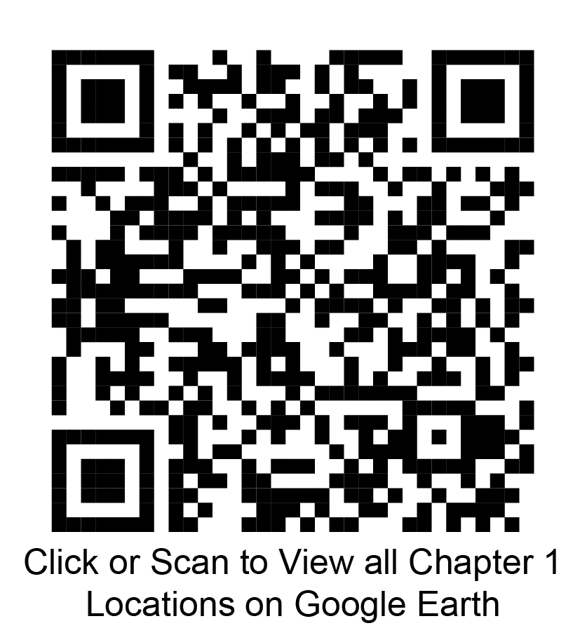 Click or scan to view all chapter 1 locations on Google Earth