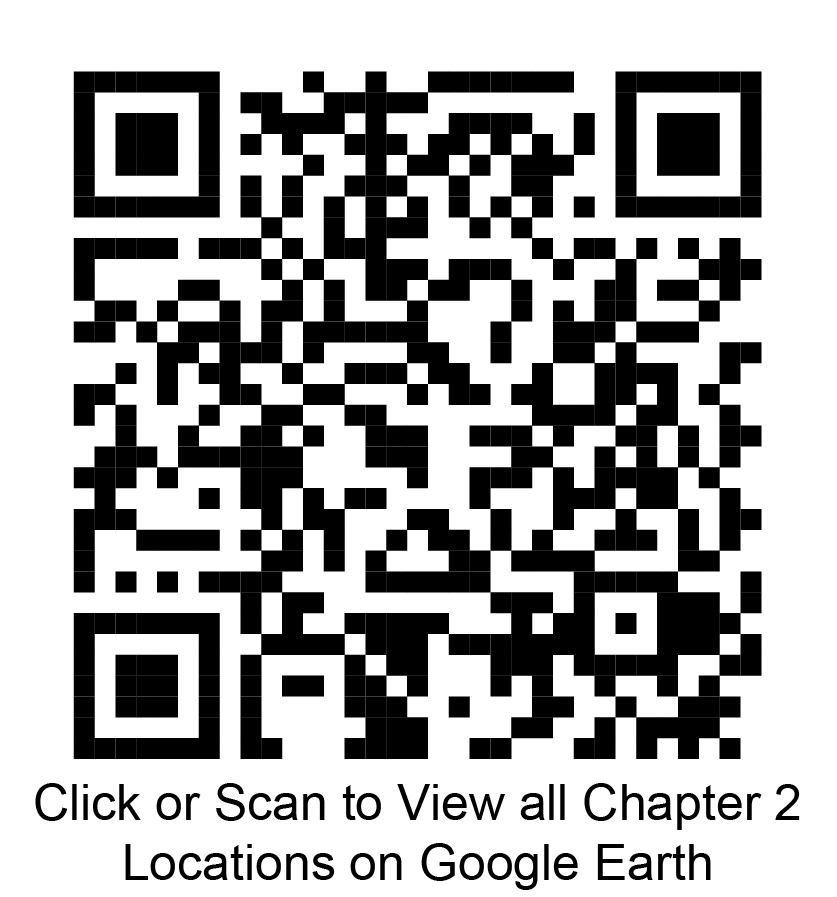 Click or scan to view all chapter 2 locations on google earth