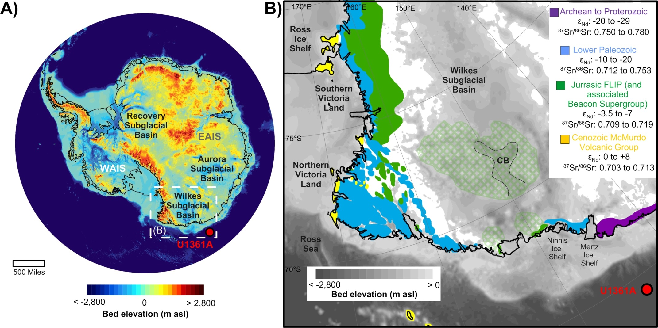 The Wilkes Subglacial Basin is located in Antarctica.