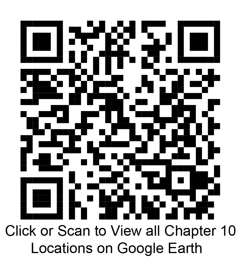 Click or scan to view all chapter 10 locations on Google Earth