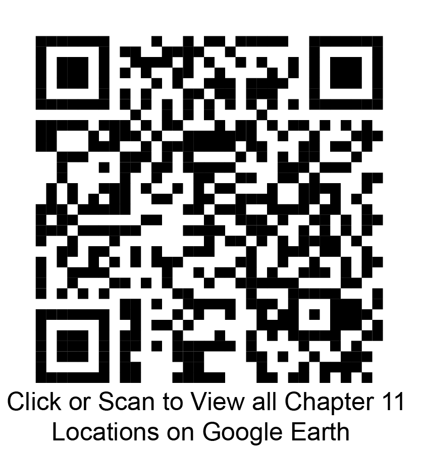 Click or scan to view all Chapter 11 locations on Google Earth