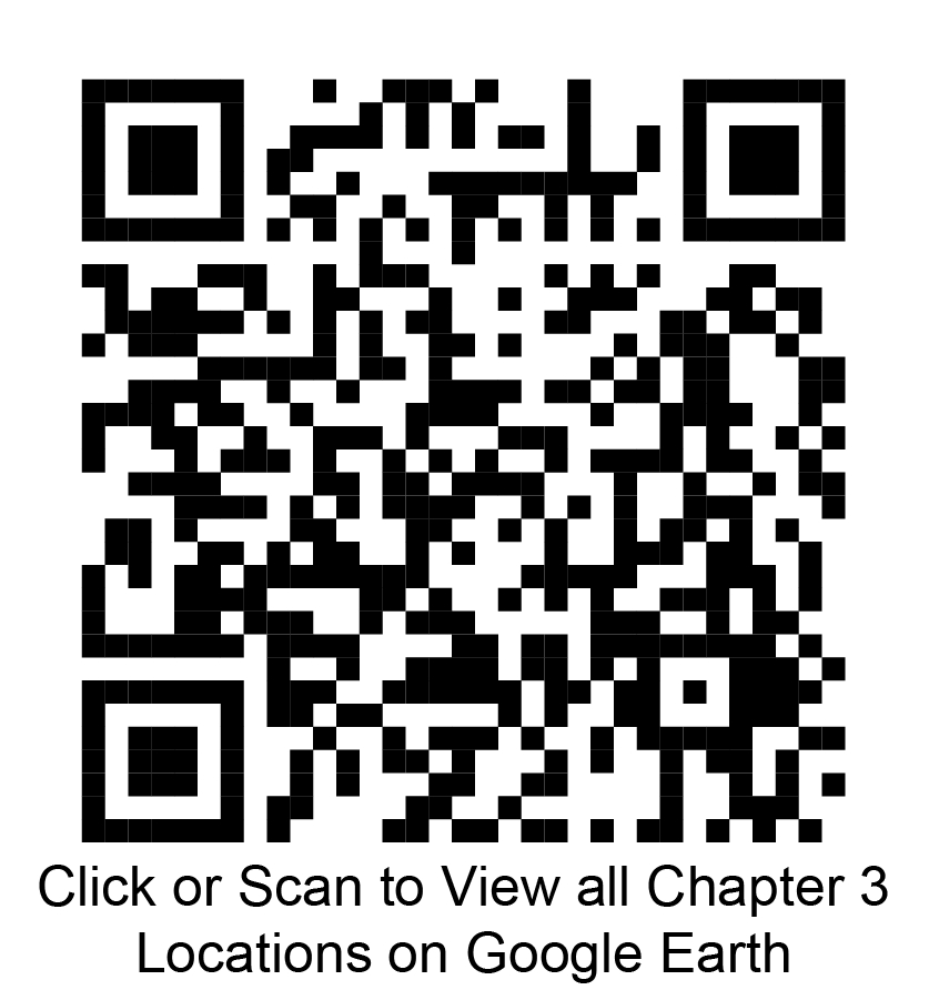 Click or scan to view all chapter 3 locations on Google Earth