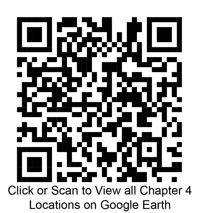 Click or scan to view all chapter 4 locations on Google Earth