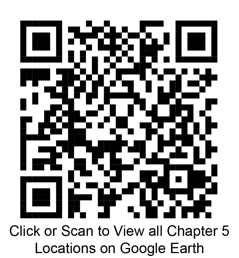 Click or scan to view all chapter 5 locations on Google Earth