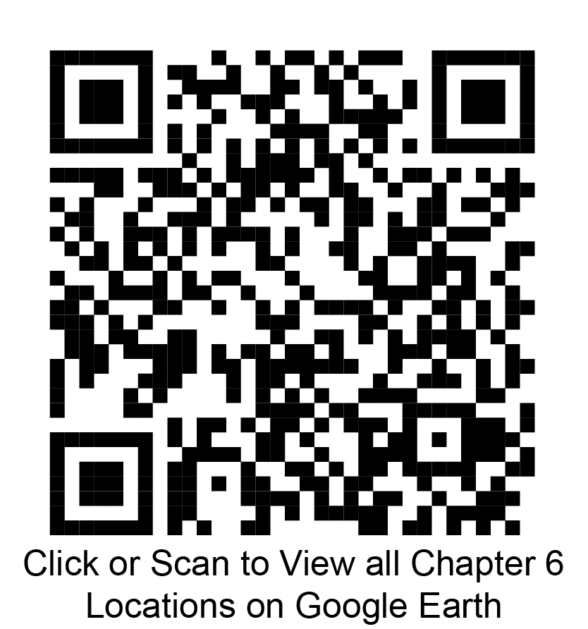 Click or scan to view all chapter 6 locations on Google Earth
