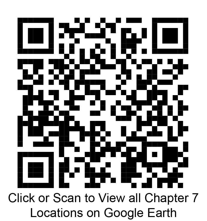 Click or scan to view all chapter 7 locations on Google Earth
