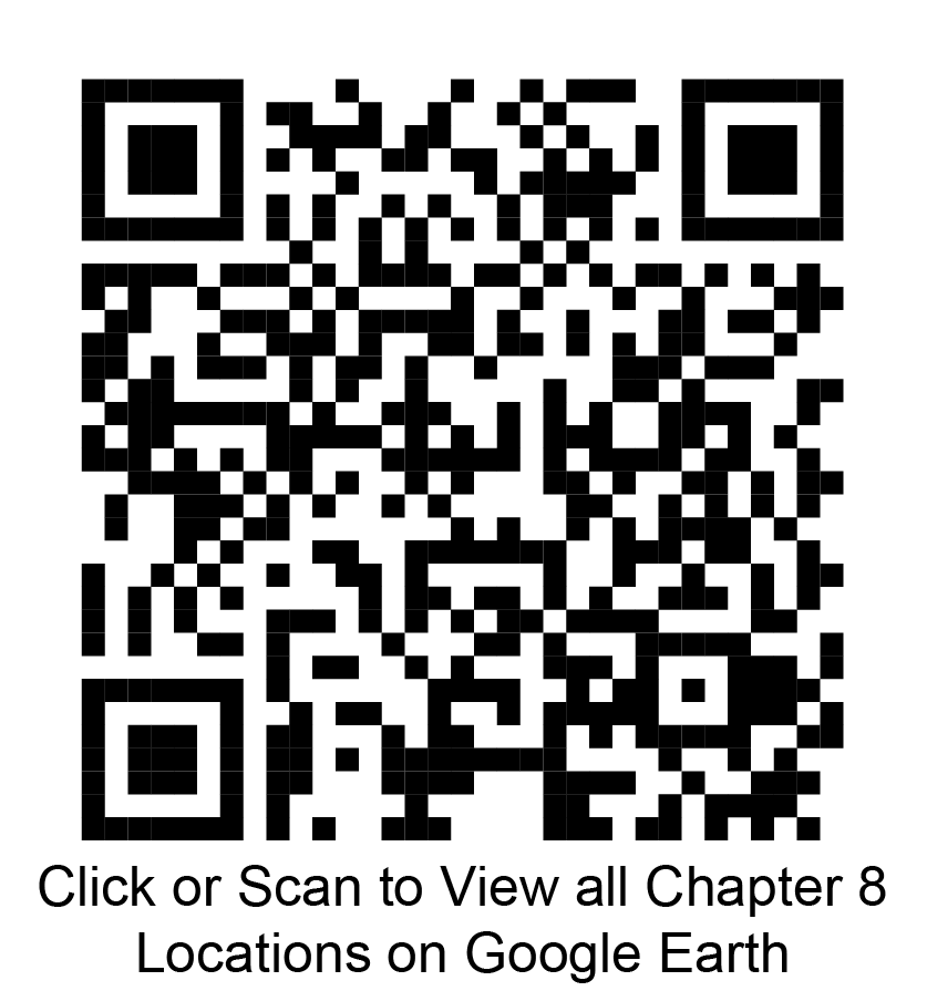 Click or scan to view all chapter 8 locations on Google Earth