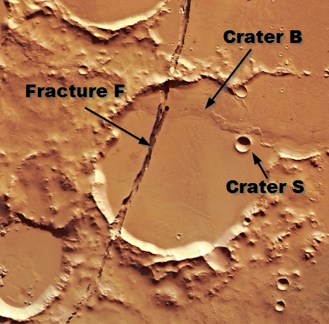 Martian craters and fractures for exercise 3.8