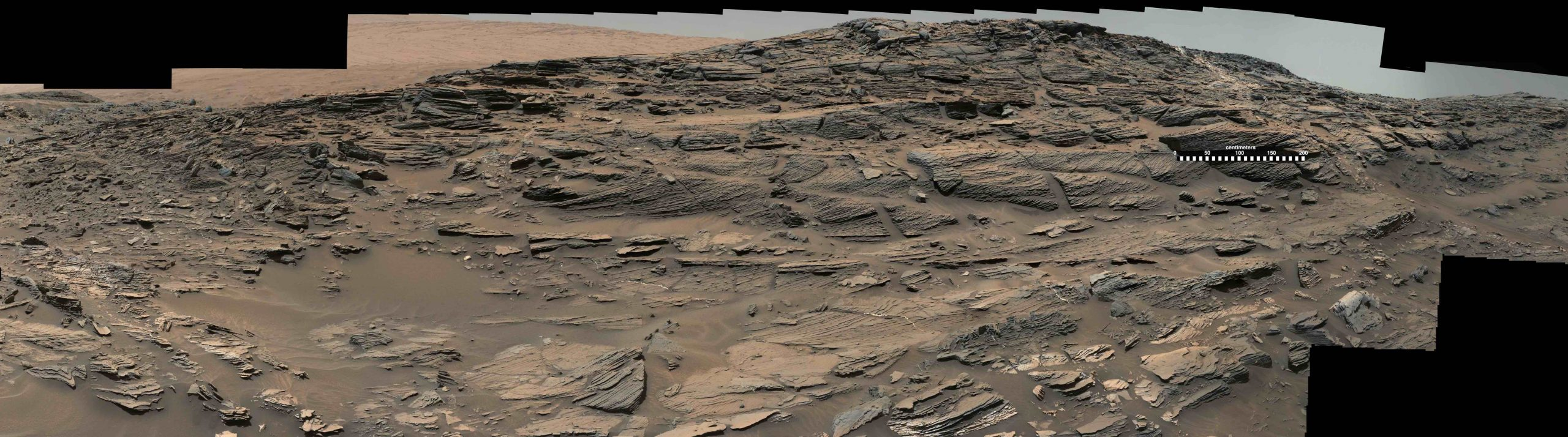Cross-bedding outcrop at Whale Rock, Mars.