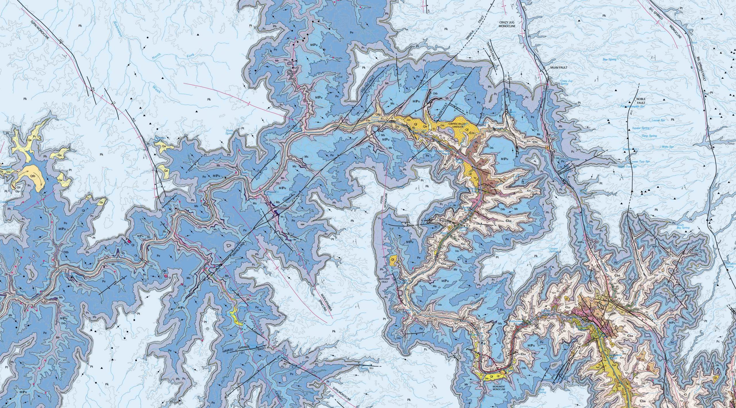 Geologic map of the Grand Canyon
