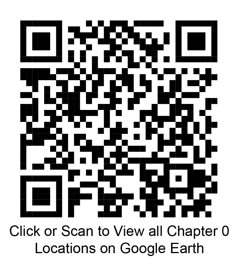Click or scan to view all chapter 0 locations on Google Earth