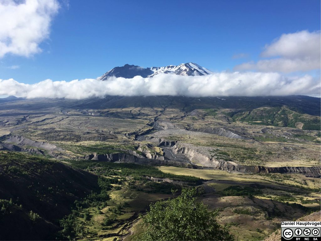 Mount St. Helens in Washington state. This mountain is a volcano. Photograph for exercise 0.1