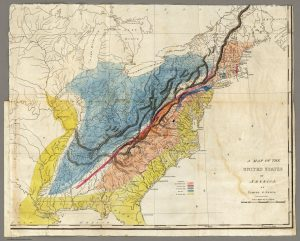 First known geological map of the eastern and central parts of the United States by William Maclure.