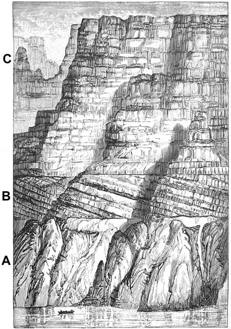 An example of a detailed sketch of the Grand Canyon, Arizona.